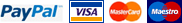 We Accept Paypal, Visa, Mastercard, Maestrocard